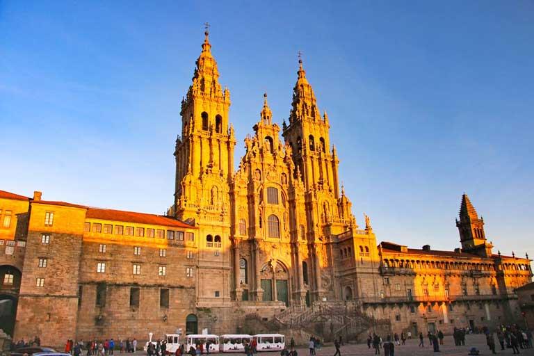 Cathedral of Santiago de Compostela in Spain, the final destination for the Camino de Santiago pilgrimage route