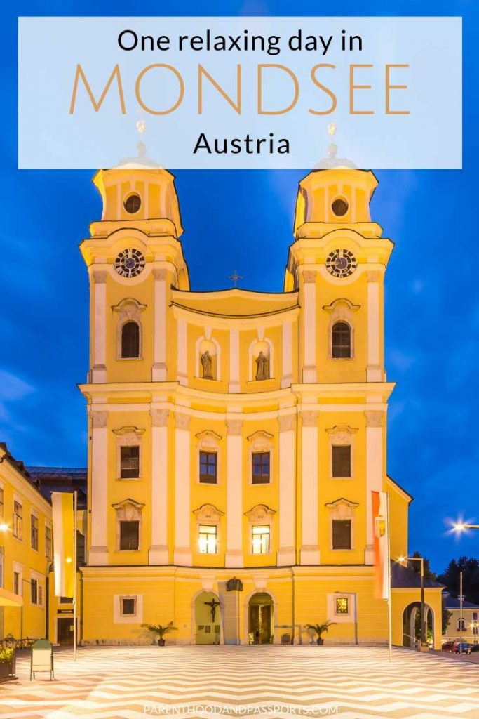 """There is more to do in Mondsee Austria than just see the church where """"The Sound of Music"""" wedding scene was filmed. This guide to visiting Mondsee covers how to spend one day in Mondsee, where to stay in Mondsee, and the top things to do. #austria #salzburg #soundofmusic"""