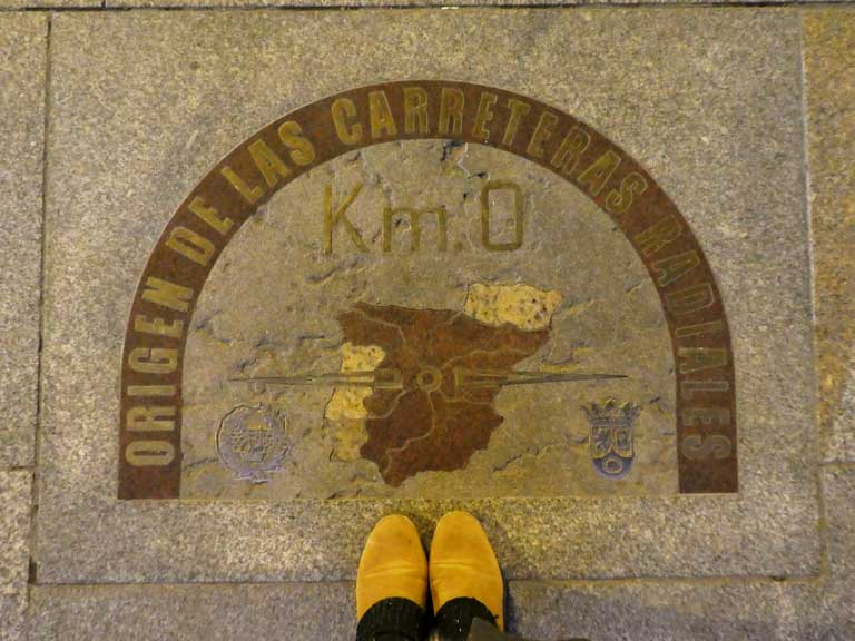 The slab marking the geographic center of Spain