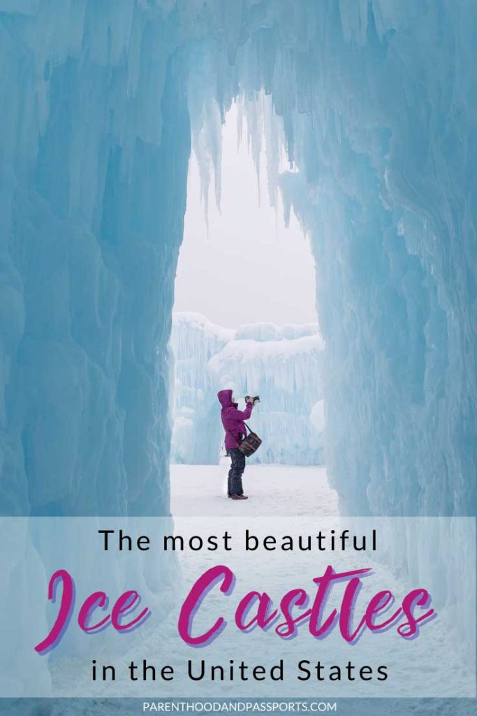 Looking for a truly unique winter travel experience? Find out where you can find the most beautiful Ice Castles in the United States. Plus get tips for visiting Ice Castles, the most Instagrammable place in the USA. With locations in New Hampshire, outside of Boston; in Colorado, near Denver; in Wisconsin, near Chicago and Milwaukee; and in Utah, outside of Salt Lake City, these ice castles are a great winter getaway for families. #wintertravel #icecastles #traveltips #bucketlist