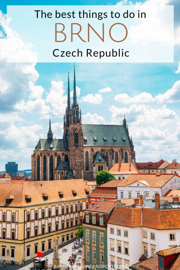 Wondering is Brno worth visiting? Here are the top reasons to visit Brno Czech Republic, plus 7 incredible things to do in Brno, Czech Republic, including a visit to Europe's second largest ossuary, a drive through beautiful rolling fields that look like a postcard, and a charming Old Town with cobblestone streets and colorful buildings. | Day trip from Vienna | Day trip from Prague | Day trip from Bratislava | Czechia | Europe travel | Things to do in Czech Republic | Places to visit in Czech Republic #czechrepublic