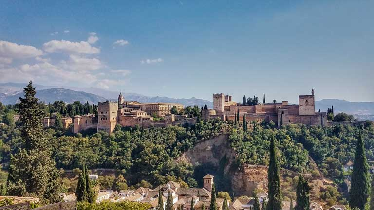 Alhambra outside of Granada is a UNESCO World Heritage site and a bucket list experience in Spain!