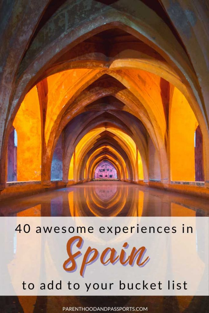 From tapas and sangria to late night flamenco shows and countless historical sites, Spain is absolutely bursting with unique and delightful experiences. To help you plan your Spain travel, here are 40 incredible experiences to add to your Spain bucket list. #spain #bucketlist #travel