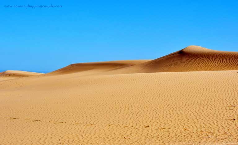 Maspalomas sand dunes on gran Canaria Spain