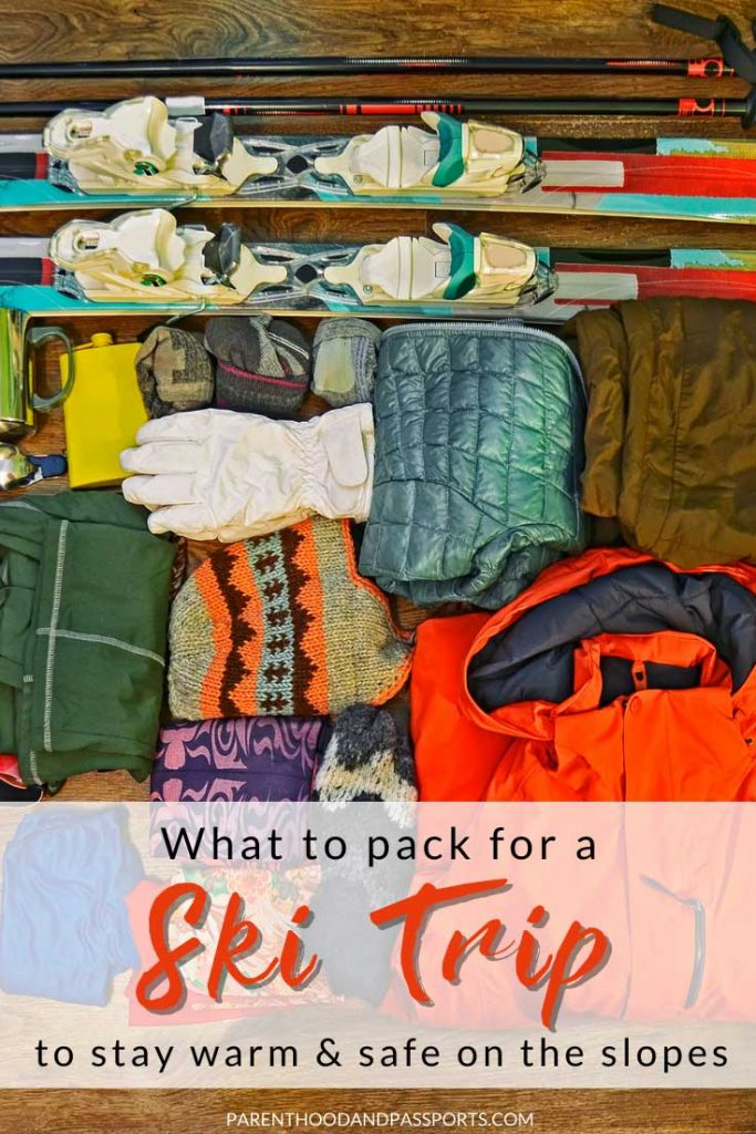 Wondering what to pack for a ski trip?  This ski attire and ski gear guide is perfect for those going skiing for the first time or the hundredth. This guide provides tips for choosing the right ski clothing and winter gear, and lays out everything you will need to go skiing or snowboarding to stay warm and safe on the mountain.