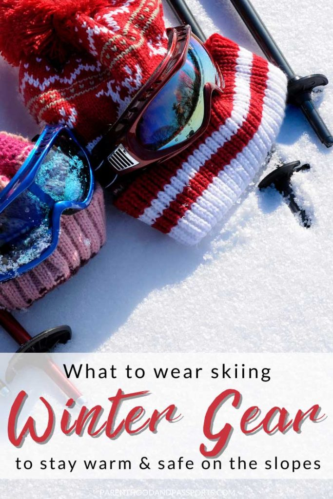 Wondering what to pack for a winter trip?  This ski attire and ski gear guide is perfect for those going skiing, snowboarding, or spending time outside in winter. This guide provides tips for choosing the right ski clothing and winter gear, and lays out everything you will need to pack to to stay warm and safe on the mountain.