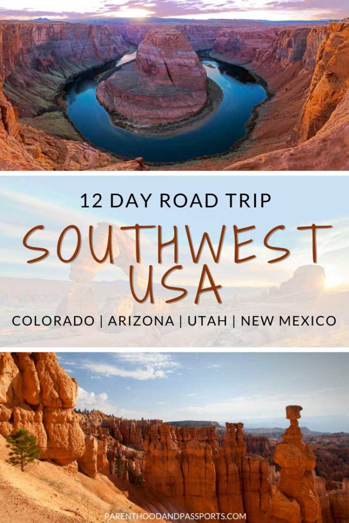 From national parks to majestic scenery, the American Southwest is one of the most unique regions of the United States. This southwest USA road trip itinerary includes portions of Utah, Arizona, Colorado and New Mexico. #usatrave #roadtrip #utah #arizona #nationalparks
