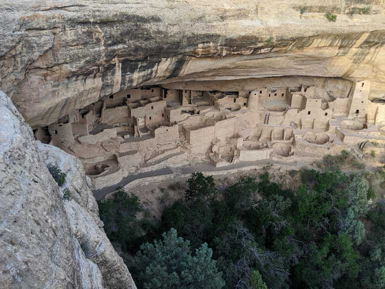 Overlooking Cliff Palace in Mesa Verde National Park