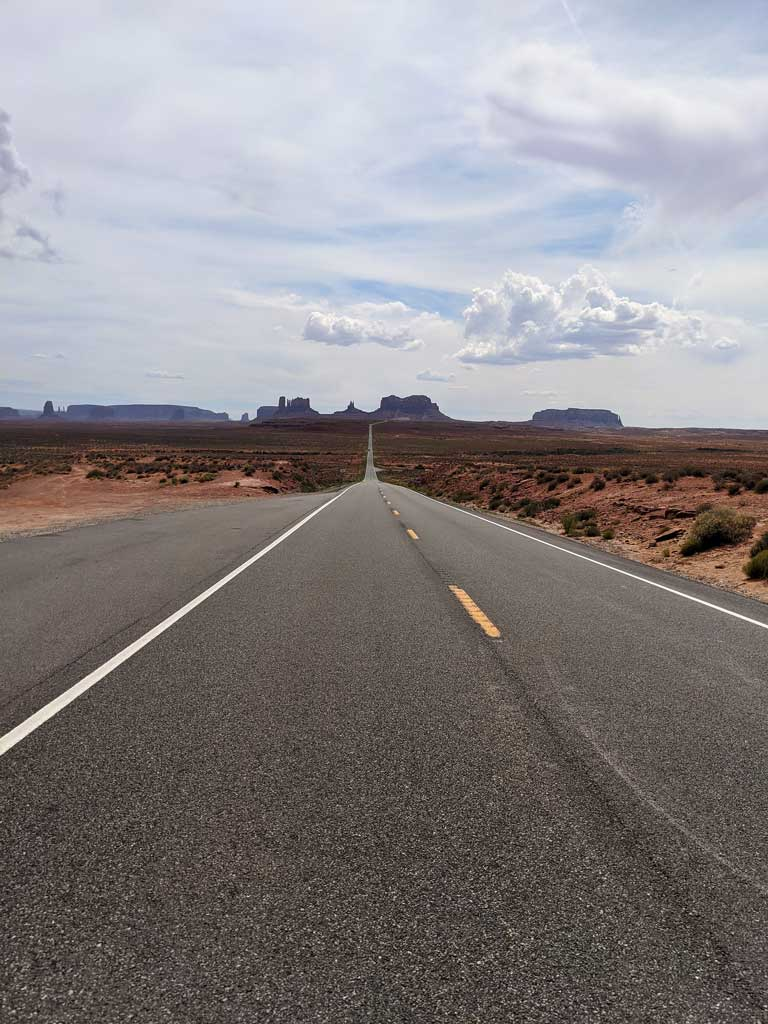 Forest Gump Hill in Monument Valley Utah
