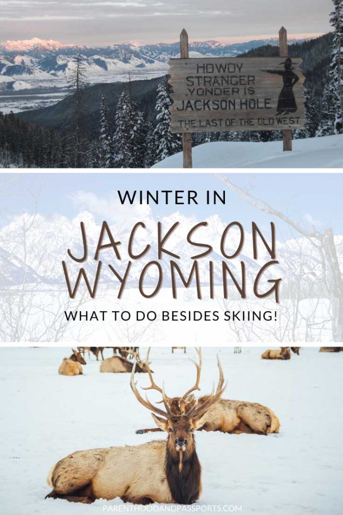 Winter in Jackson Hole Wyoming - what to do besides skiing. The top five activities to do in Jackson, Wyoming in winter other than skiing and snowboarding.