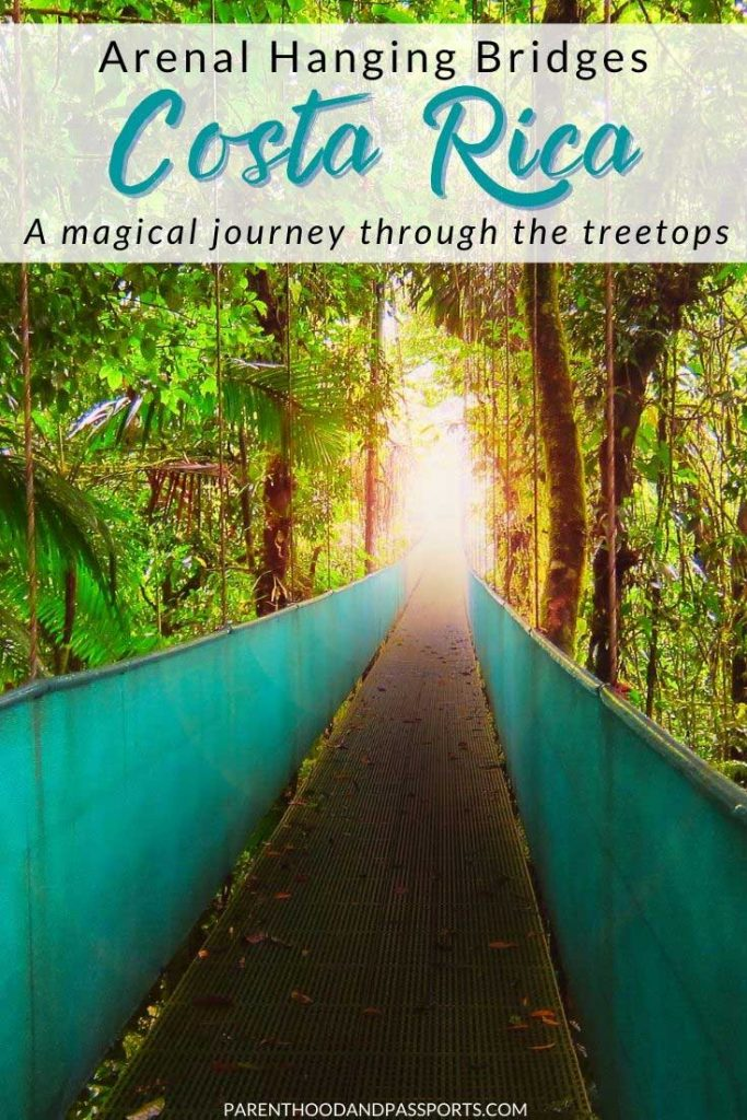 A hanging bridge tour in Costa Rica is one of the best things to do in Costa Rica. If you are planning a Costa Rica vacation, here are tips and recommendations for booking your Costa Rica canopy tour. | La Fortuna | Arenal Volcano | Instagrammable places in Costa Rica | best places to visit in Costa Rica