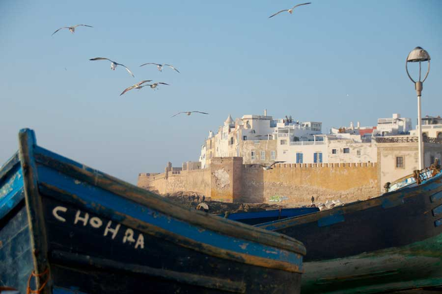 View of Essaouira from the port