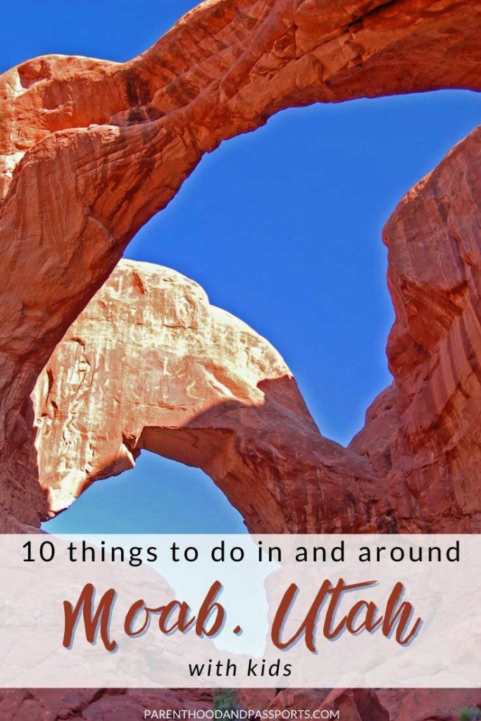 Looking for fun things to do in Moab, Utah? As the gateway town to Arches National Park and Canyonlands National Park, Moab is Utah's adventure capital. Here are the top 10 things to do in Moab with kids. | Utah travel | Utah landmarks | USA travel | Southwest USA | National Park itineraries