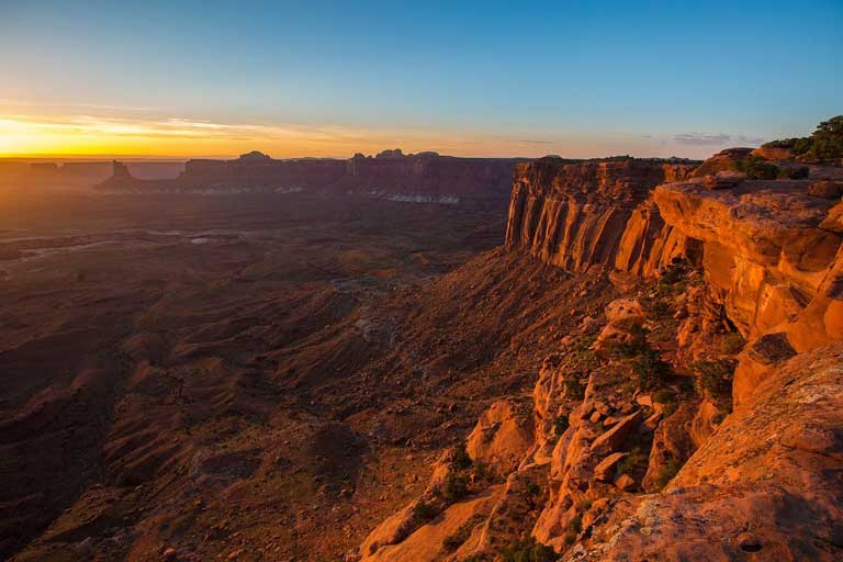Watching the sunset over Canyonlands National Park - one of the best things to do in Moab Utah