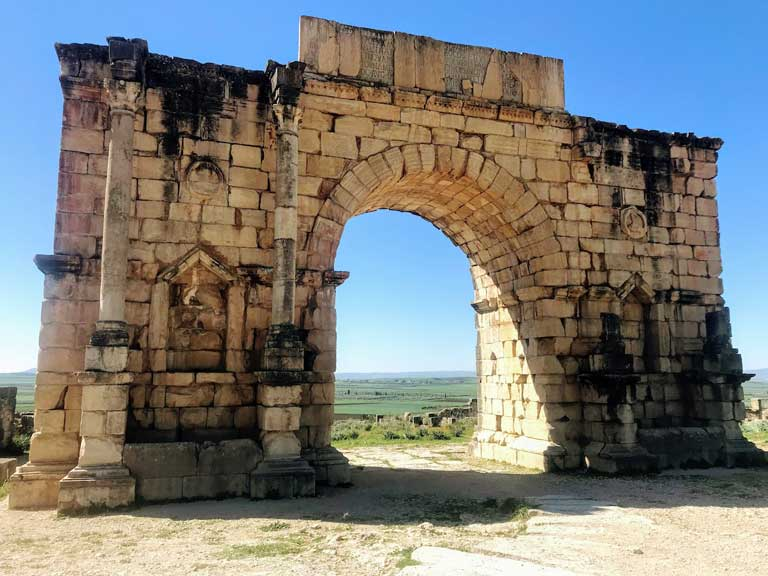 Arch of Caracalla in Volubilis Morocco