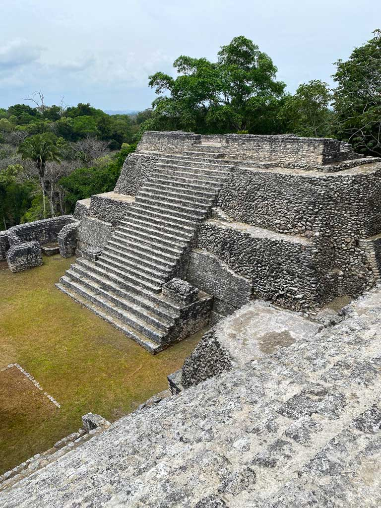 Caracol, the largest of all the Belize mayan ruins