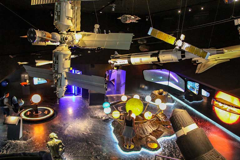 Inside the Haus der Natur Museum, one of the best things to do in Salzburg with kids.