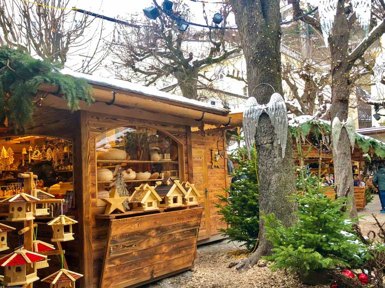 a booth at the Salzburg Christkindlmarkt