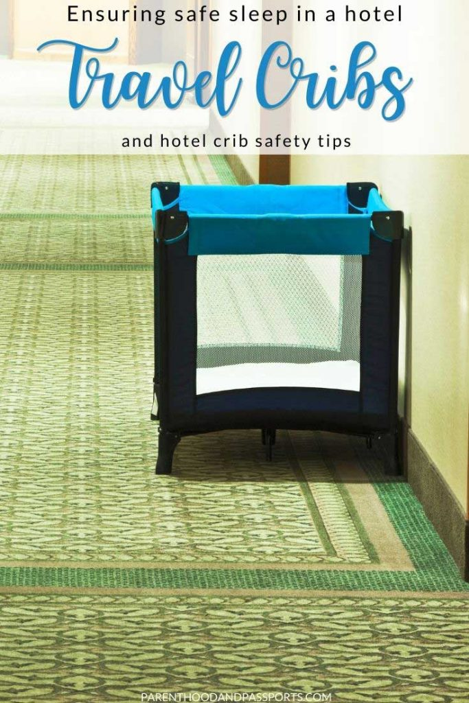 For parents, hotel cribs are often a necessity. Unfortunately, they're not always available. Here's how to ensure a safe sleep for a baby when traveling.   travel with a baby   family travel   safe sleep   travel tips   travel hacks