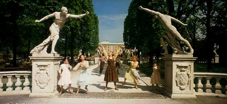South Entrance to Mirabell Gardens as seen in Sound of Music