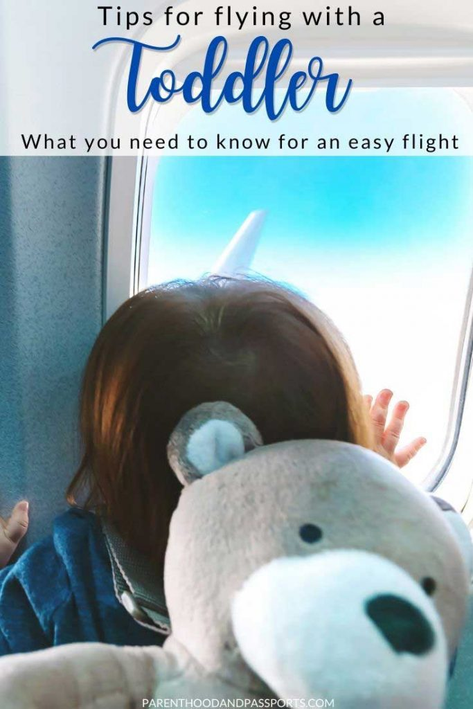 Planning a flight with a toddler? This post provides tips for flying with toddlers, advice for how to keep toddlers entertained on a plane, and information to help prepare and equip you for your first flight with a toddler. | travel tips | family travel | toddler travel | air travel | flying tips | traveling with a toddler