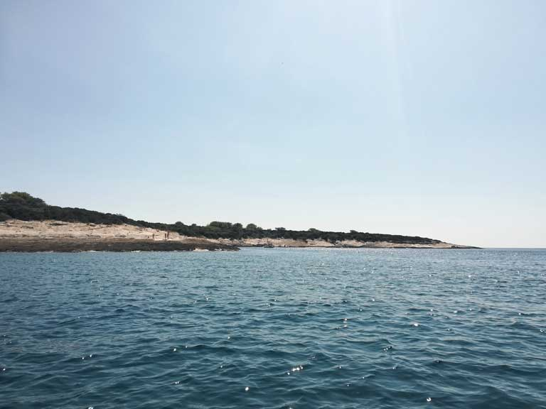 The small island of Proizd, a great day trip from Korcula and one of the best beaches in Croatia
