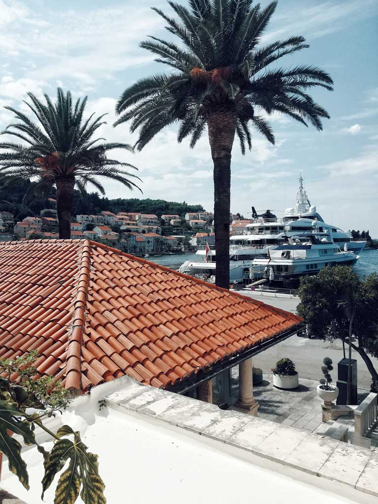 The town of Korkula, Croatia overlooking the Adriatic Sea
