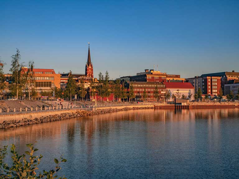 Lulea, the largest Scandinavian city in the Swedish Lapland