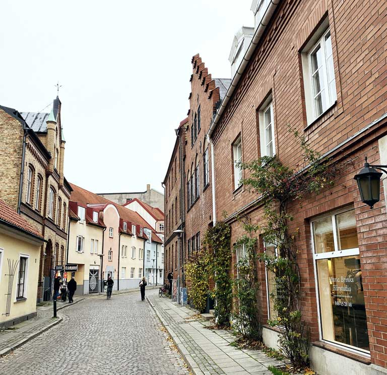 The historical center of Lund, Sweden