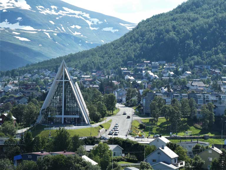 The Arctic Cathedral in Tromso Norway