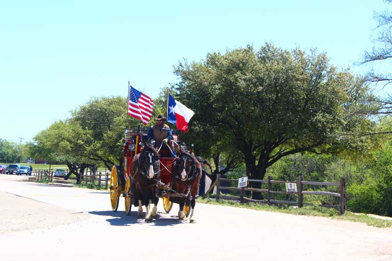 """A stagecoach ride is one of the best """"Texas"""" things to do at the Fort Worth Stockyards"""