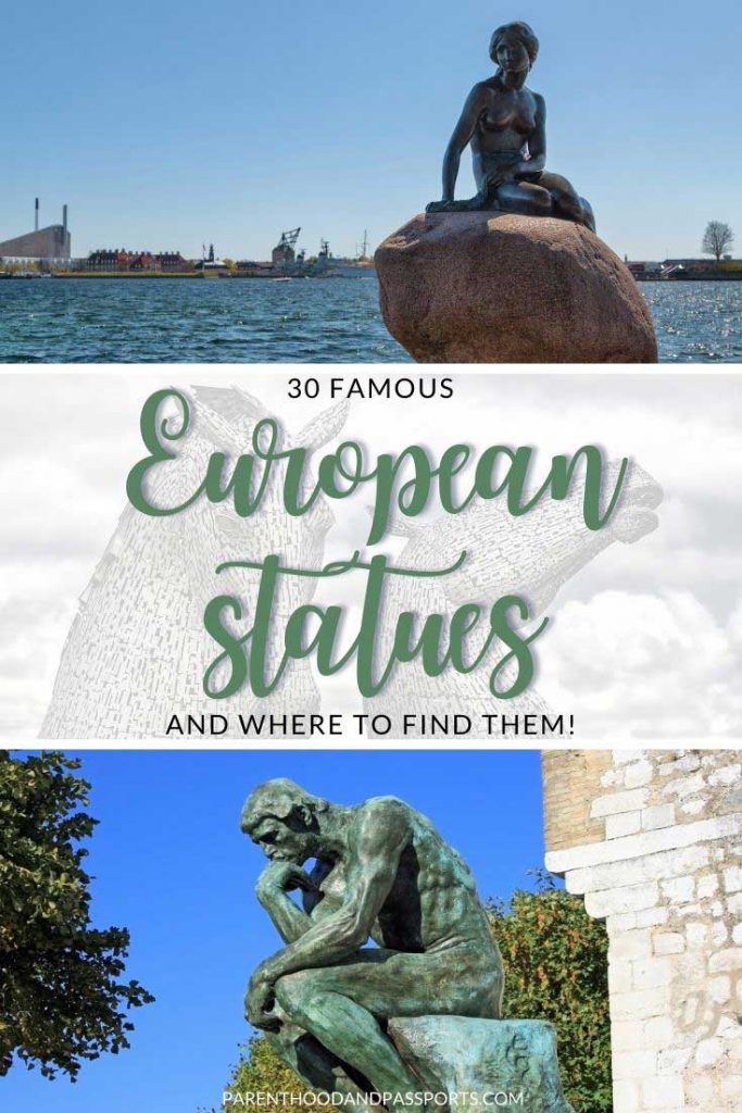 From monuments in city squares to museum halls, there are a lot of famous statues in Europe.Here's where to find the most notable European sculptures. | Europe travel | European art | public art | famous sculptures | landmarks in Europe | places to visit in Europe