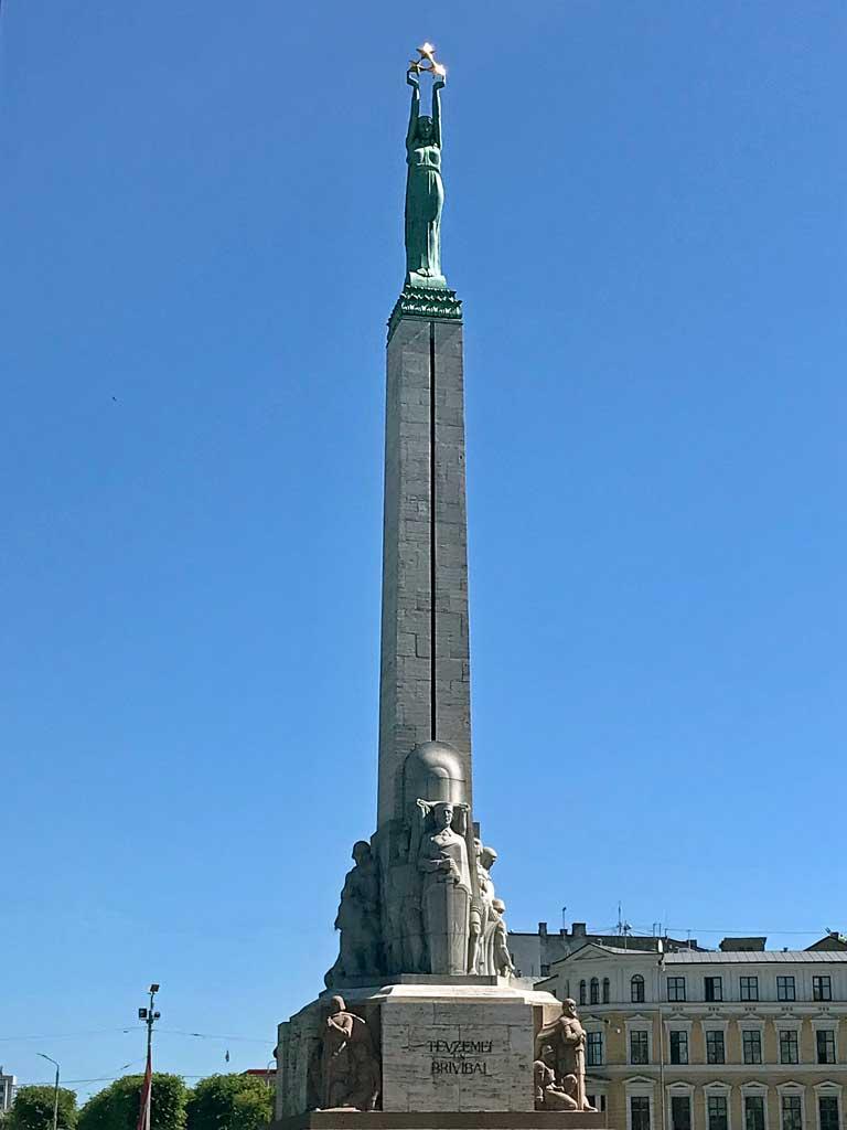 The Freedom Monument in Riga, Latvia