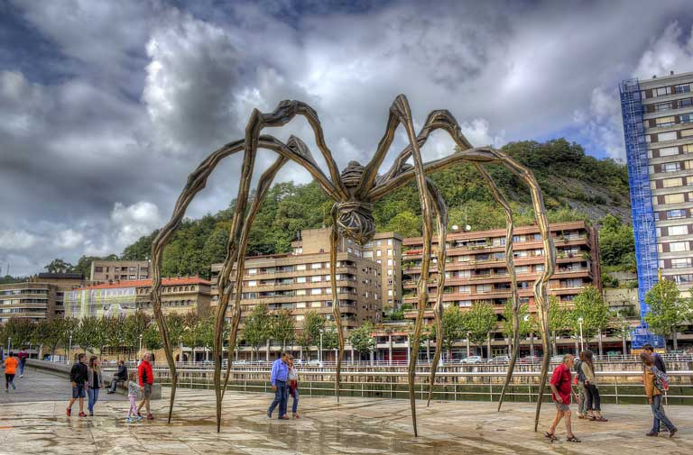 Maman, located in Bilbao, Spain, is one of the strangest sculptures in Europe.