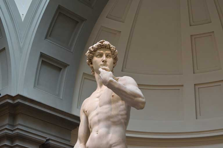 David, by Michelangelo, is notably one of the most famous statues ever sculpted
