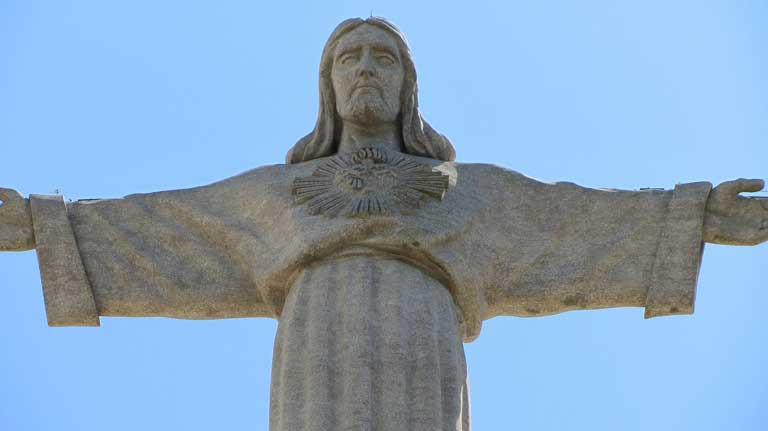 Sanctuary of Christ the King in Lisbon, Portugal, looks a lot like the famous statue Christ the Redeemer in Brazil