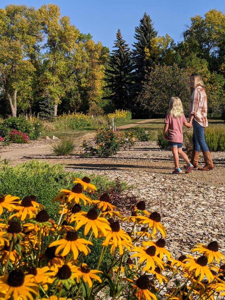 family walking at Dickinson Research Center, one of the best places in visit in the ND town