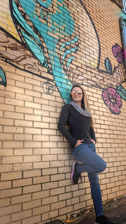 Mural in downtown Dickinson North Dakota