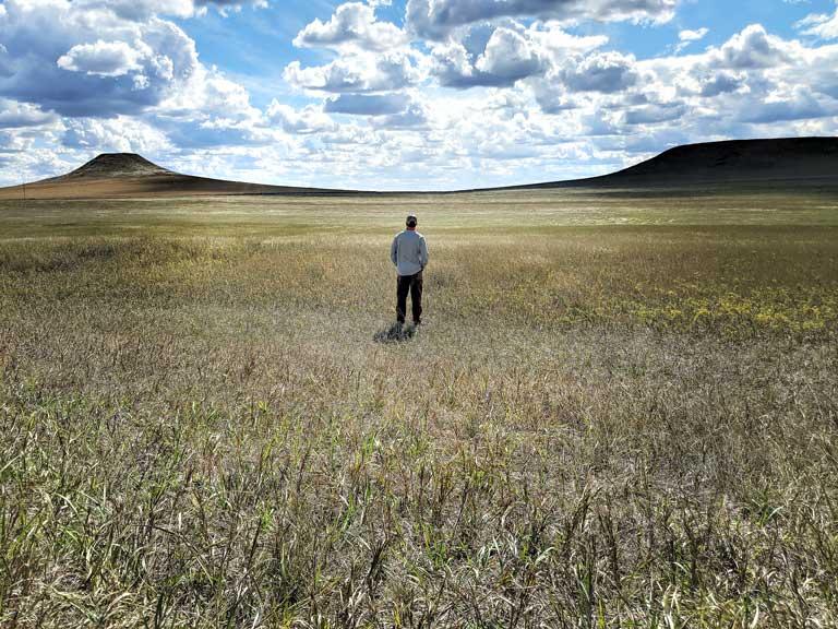 prairie lands in North Dakota