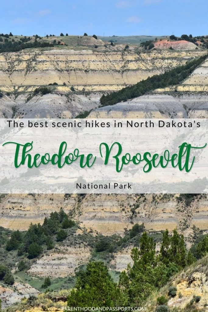 This guide to the easiest Theodore Roosevelt National Park hiking trails includes gentle walks to scenic vistas and short climbs to overlooks and buttes. | North Dakotaa | US travel | US national parks | hiking for beginners | hiking with kids