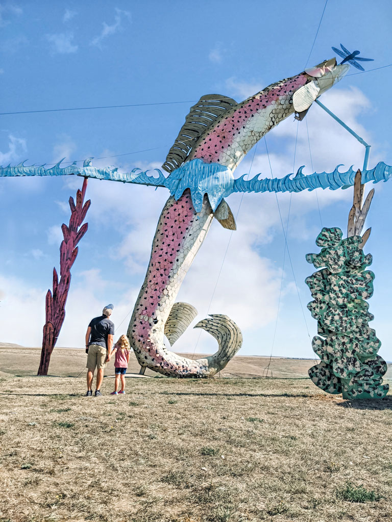Fisherman's Dream sculpture along the Enchanted Highway ND