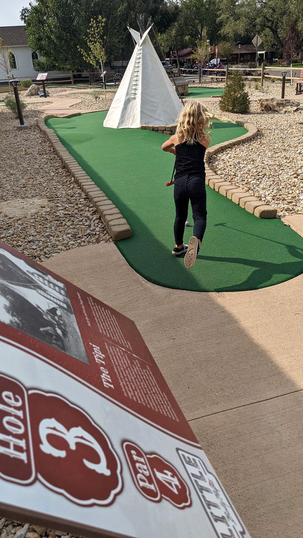 Medora mini golf course - one of the best things to do in Medora, North Dakota