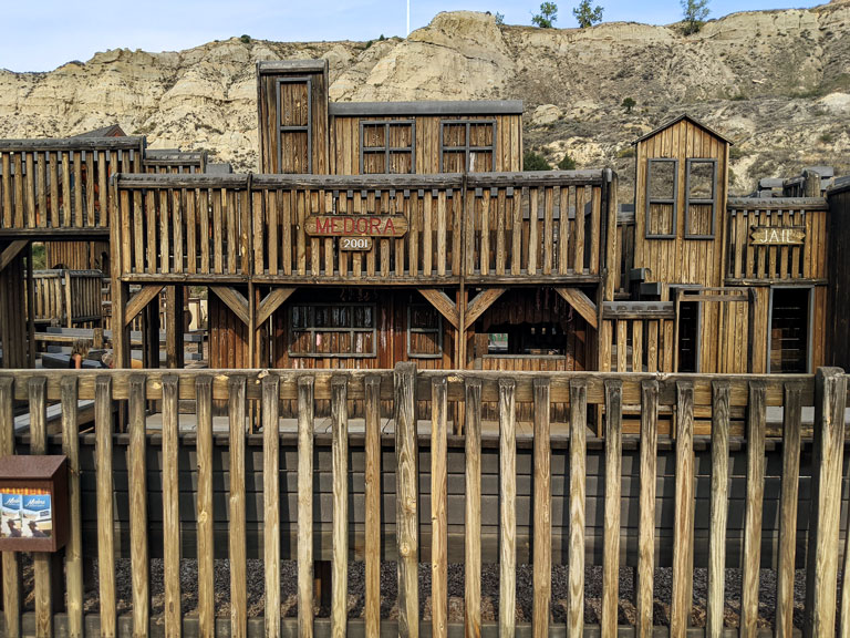 The children's park is one of the best things to do in Medora North Dakota with kids