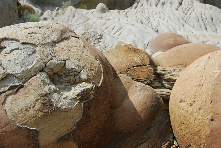 Cannonball concretions - a unique, perfectly round geological formation you'll find in the north unit of Theodore Roosevelt NP